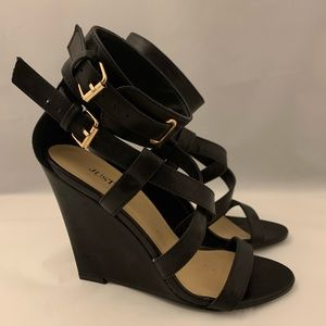 *NEW* Black Wedge Strap Shoe